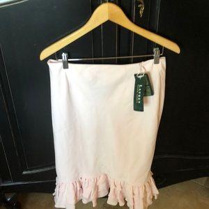 Pink Ralph Lauren ruffle skirt